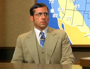 "Brick Tamland from ""Anchorman"" as portrayed by Steve Carell."
